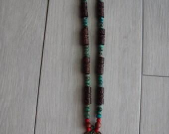 One of a Kind Rustic Love Bird Door Knocker Beaded Necklace