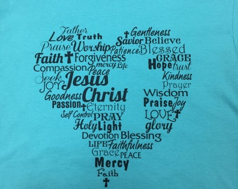 Cross In My Heart Word Shirt