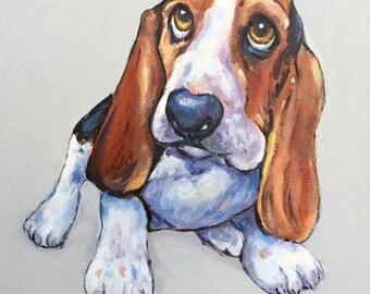 """Custom Painted Pet Portrait (8x10"""")"""