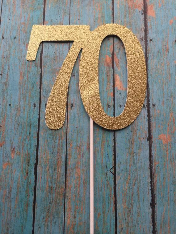 70th Birthday Cake Topper 70th Cake Topper 70 Birthday Cake