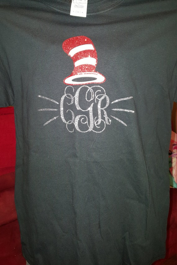Dr Seuss Shirt With 3 Initials By Acottoncandyboutique On