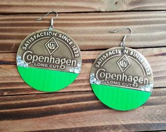 Copenhagen Long Cut Lime Love Earrings