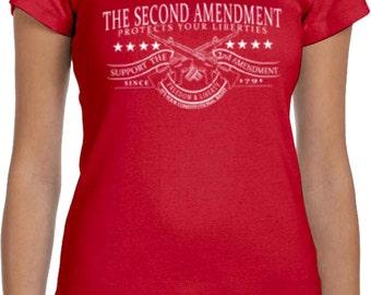 The Second Amendment Ladies Scoop Neck Shirt WS-16080-1003
