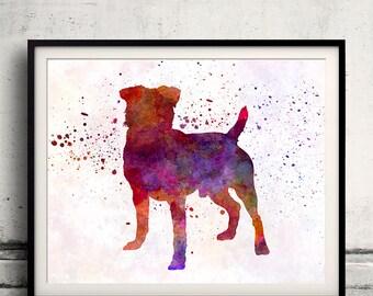 German Hunting Terrier 01 in watercolor - Fine Art Print Poster Decor Home Watercolor Illustration Dog - SKU 2138