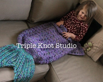 Mermaid Tail Blanket, Mermaid Blanket, Mermaid Tail, made to order