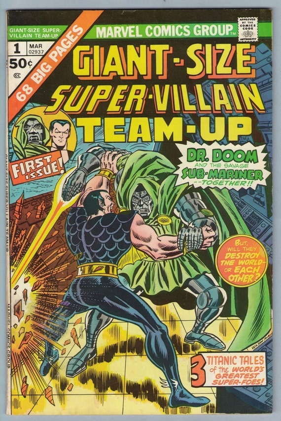 Giant-Size Super-Villain Team-Up 1 Mar 1975 FI- (5.5)