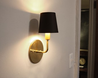 Brass sconce - Dean - Transitional wall lighting - Hollywood Regency sconce - Modern elegant light