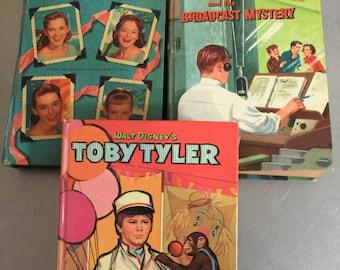 Vintage Whitman Childrens Books  | Lennon Sisters Lawrence Welk Show | Disney Toby Tyler | Ginny Gordon | Mid Century TV Show Tie  Ins |