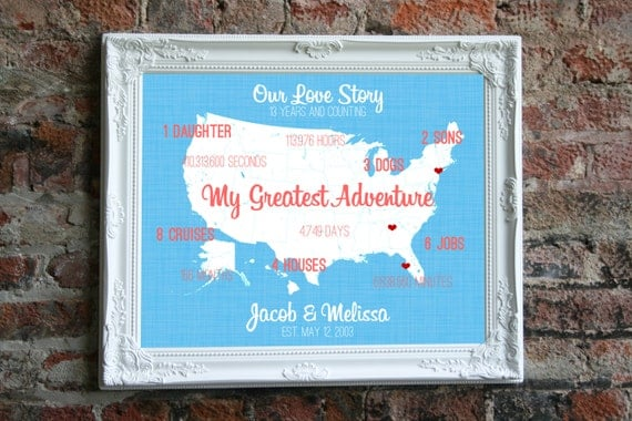 Thirteenth Wedding Anniversary Gift: 13th Anniversary Wedding Gift For Him 13 Year By SoleStudio