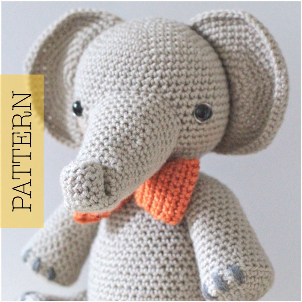 Crochet Amigurumi Elephant PATTERN ONLY Professor Elbert pdf