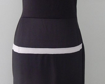 1950's 'Style' Rockabilly Pencil Dress in Black and White