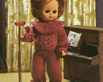 Dolls Clothes Knitting Pattern - Sweater and Leggings Vintage