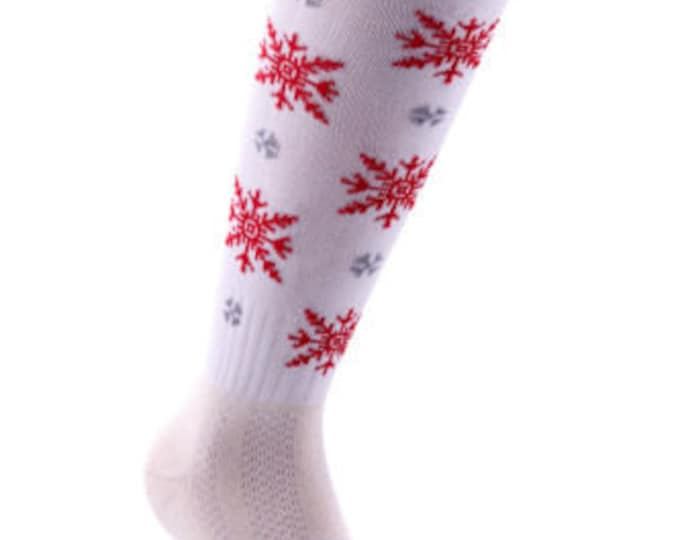 Samson® Snowflake Christmas Socks Thick Knee High Ski Snow Stockings Festive Seasonal Winter Thermal Cosy Warm
