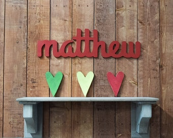 Matthew - Custom Wooden Name Sign - Nursery - Baby Name - Wedding - Shower Gift - Baby Name Sign, Kid's room decor, Nursery Nesting