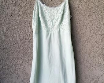 Light blue slip dress
