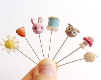 Decorative Sewing Pins/Whimsical pins