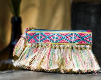 Fringe Clutch Bag / Boho Clutch  / Evening Bag / Purse / Bohemian Fringe Bag