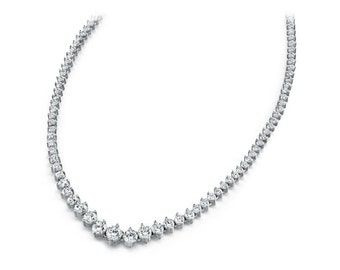 7 Carat Diamond Tennis Necklace 18k Gold - Diamond Eternity Necklace - Gifts for Women - For Her - Wedding Necklace - Raven Fine Jewelers