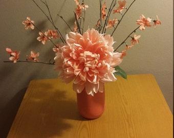 Mason Jar faux flower decoration