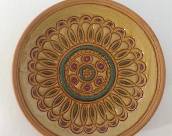 100% Hand Made Bonis Pottery Orininal Rhodes Greece Small Plate