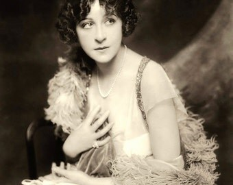 "Photo of Actress Fanny Brice, 1910's, the original ""Funny Girl"""