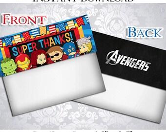 50% OFF SALE Avengers Treat bag toppers, Superhero, Superheroes, Super hero, Super heroes Instant Download, pdf jpg, Party Birthday