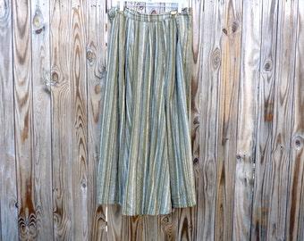 Full A-Line Linen Skirt Garb Skirt
