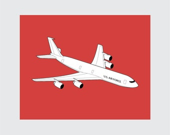 Airplane Art Print, 8x10 PRINTABLE, Boeing KCE-3, Instant Download, Digital