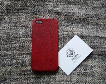 iPhone SE 5s leather case 'Burgundy'