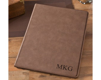 Personalized Mocha Business Portfolio - Padfolio