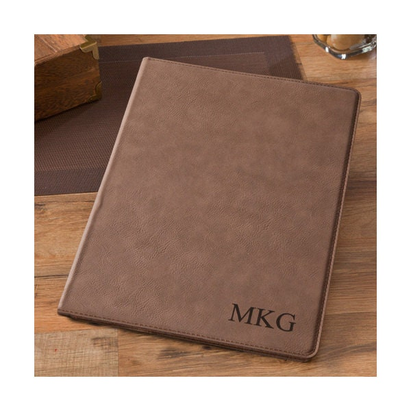 personalized mocha business portfolio padfolio