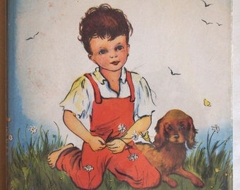 Vintage children's Religion book with original dust jacket: Tell Me about God by Mary Alice Jones, illustrated by Pelagie Doane hardcover