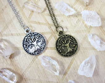 Yggdrasil Necklace | Antique Silver or Gold | Tree of Life