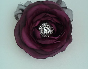 Plum Corsage-Purple Corsage-Mother of the Bride Corsage-Prom Corsage-Homecoming Corsage