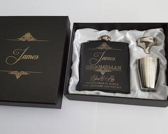 Wedding Flask - Personalised Engraving - With Box Engraving