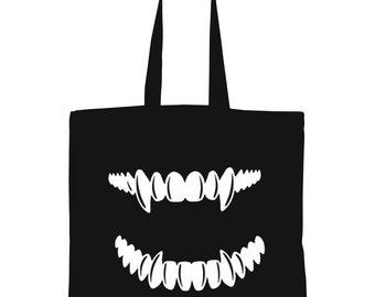 FANGS! Tote Bag, Laptop Bag, Book Bag, Grocery Bag