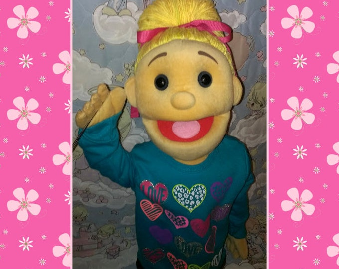 Large Professional Puppet - Cute Puppet Girl -  Arm Rod People Puppets for Ministry, Education & Fun by Puppets for JESUS!