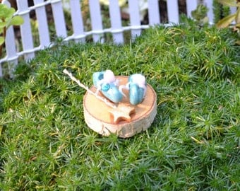 Baby Blue Fairy Garden shoes with magic wand