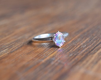 Opalescent Topaz Sterling Silver Ring