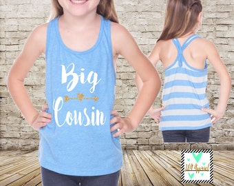 Big Cousin Shirt Family Shirt Big Cousin Tank Top Little Cousin Shirts Big Cousin Shirt Pregnancy Baby Announcement Shirt
