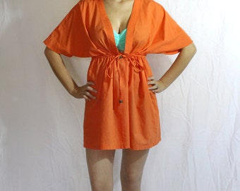 The Capri, Swimsuit Cover up,Women's Orange swimsuit coverup, Swim dress