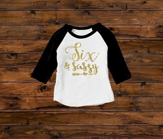 Seven and Sassy Birthday Girls' Shirts Birthday Girl |Sassy Birthday Shirts