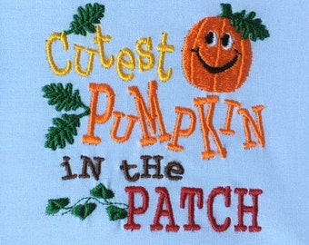 Pumpkin Patch Shirt, Cutest Pumpkin in the Patch, Boys Pumpkin Shirt, Girls Pumpkin Shirt, Baby Pumpkin, Baby Girl, Baby Boy, Embroidered