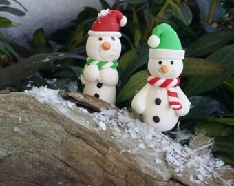 Fairy Garden Snowman, Miniature Snowman, Winter Garden Snowman, Miniature terrarium accessory, fairy accessories