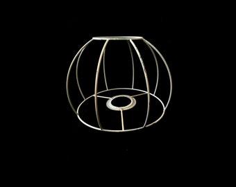 Vintage lampshade wireframe (H 12,5cm / Ø top 8cm / Ø bottom 17cm)