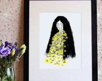 Floral Word - art print