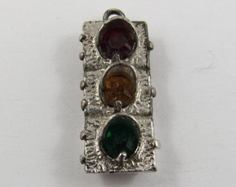 Traffic Light Silver Charm.