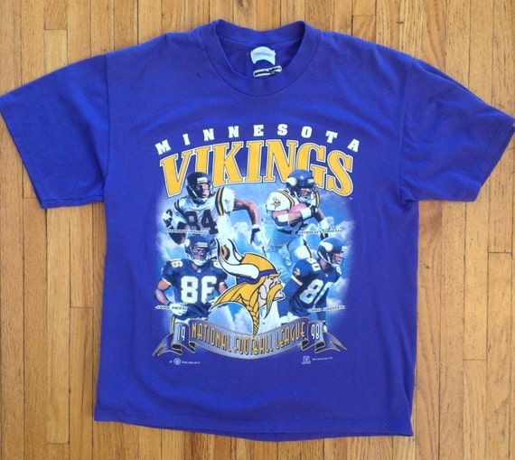 minnesota vikings vintage nfl player shirt moss smith reed