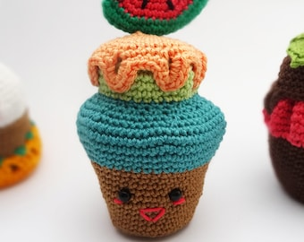Crochet cupcake pattern,Delicious crochet pattern,Cute cupcake pattern,Amigurumi cupcake,Amigurumi pattern,Amigurumi crochet,VekiCrochetLand