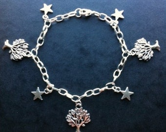 Silver Plated Tree of Life Charm Bracelet